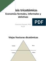 Análisis Tricotómico . Economías Formales, Informales y Delictivas