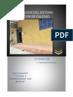 296204501 Planificacion Del Sistema de Gestion de Calidad Restaurante