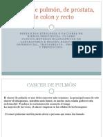 Cancer de Pulmón, De Prostata y Colorrectal