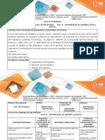 Guía de Actividades y Rúbrica de Evaluación Unidad 1 - Fase 2 Identificación de Variables y Actores