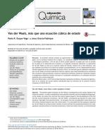 Van der Waals mas que una ecuacion cubica de estado.pdf