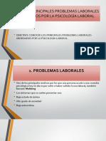1.3 Principales Problemas Laborales Abordados Por La Psicología Laboral.