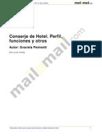 Conserje Hotel Perfil Funciones 40798