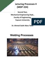 11) Manufacturing Processes II Welding III_2