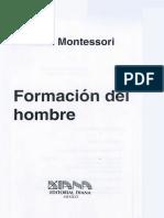 Montessori Maria - Formacion Del Hombre