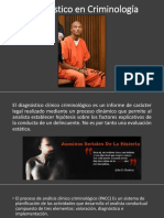 Diagnostico en Criminología