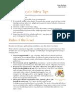 bicycle safety blackhamlacey