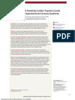 Evaluation of High-Sensitivity Cardiac Troponin I Levels