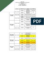 Semester II - Year 2 - Revised Mid Semester Examb Timetable 16.08.2017