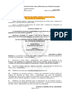 Ley de Los Derechos de Ni as Ni Os y Adolescentes Del Estado de Guanajuato P.O. 11 SEPT 2015 F. de E.
