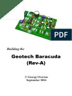 Building the Geotech Baracuda (Rev-A)