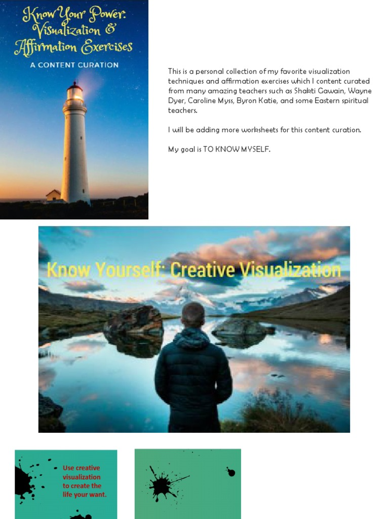 Know Your Power - Visualization and Affirmation Exercises