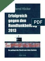 Höcker, Bernd - Erfolgreich Gegen Den Rundfunkbeitrag 2013