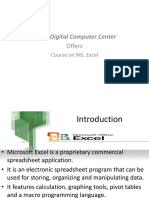 Excel PPT.-practical Experience