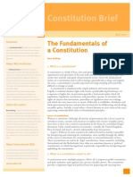 The Fundamentals of a Constitution