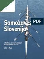 SD - Samozavestna Slovenija - Izhodišča Za Vladni Program 2018-2026