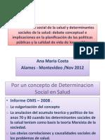 Determinación Social de La Salud y Determinantes - Ana Costa