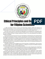 NAST Ethical Principles and Guidelines for Filipino Scientists