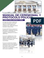 Manual de Ceremonial y Protocolo Policial Curso Instructores