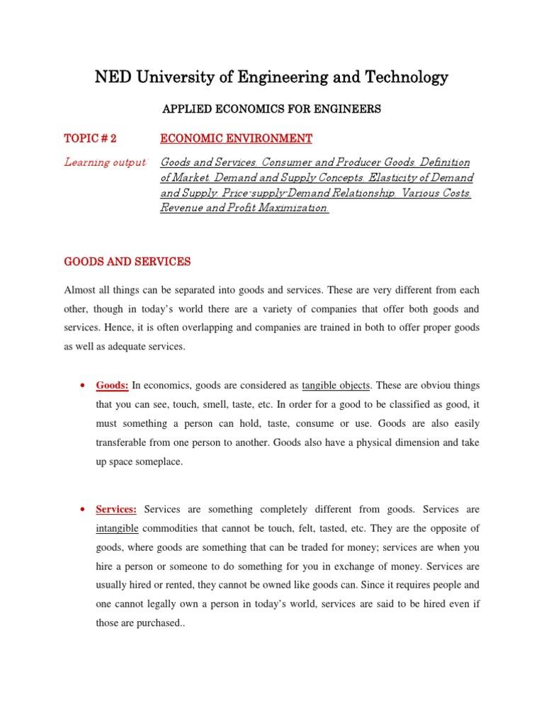 Topic 2 - Economic Environment (1) | Demand | Price