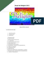 Rogramación Anual de Religion 2013