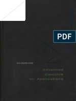 Francis B. Hildebrand Advanced Calculus for Applications