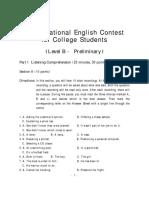 2007 Level b Preliminary