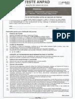 Teste ANPAD Edição Junho 2015 - Racíocinio Lógico