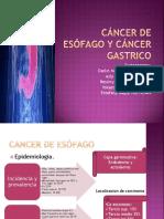Cancer Esofago y Gástrico