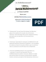 ¿Qué es La Conciencia Multidimensional?