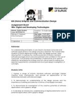 semester 1 digital and developing technologies