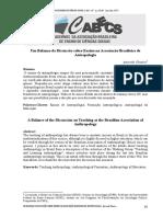 Um Balanço da Discussão sobre Ensino na Associação Brasileira de Antropologia