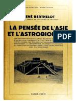 BERTHELOT-Rene-LA PENSÉE DE L'ASIE ET L'ASTROBIOLOGIE-1938