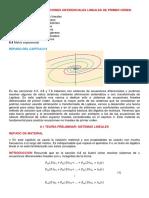 Secc. 8.1, Teoria Preliminar, Sistemas Lineales