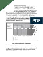La Cadena de Valor y La Estructura Organizacional