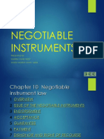 Law of Negotiable Instruments