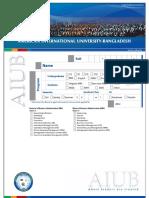 Aiub Admission Form 20150628
