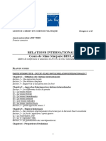 Plan Du Cours de Relations Internationales [m Beulay]
