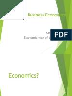 Lectures for economics