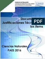 Justificaciones Ciencias PAES 2016.pdf
