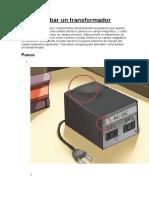 Como probar un transformador (Foros Electrónica).doc