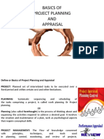 1. Basics of Project Planning and Appraisal