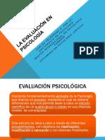 Evaluacion en Psicologia y Entrevista