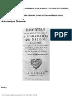 ROUSSEAU, Discurso sobre as ciências e as artes.pdf