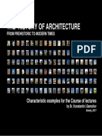 THE  HISTORY OF ARCHITECTURE FROM PREHISTORIC TO MODERN TIMES / Characteristic examples for the Course of lectures by Dr. Konstantin I.Samoilov. -  Almaty, 2017. – 410 p.