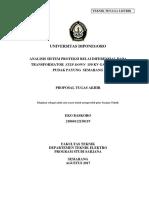 Proposal TA  Analisis Sistem Proteksi Relai Diferensial Pudak Payung