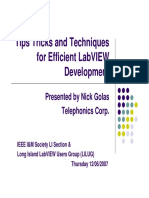 Tips Labview Development