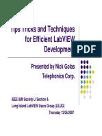 Tips Labview Development