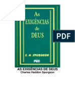 As Exigências de Deus - Charles Haddon Spurgeon.