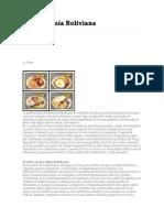 Gastronomía Boliviana Historia